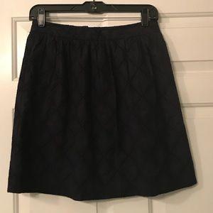 Anthropologie navy high waisted skirt